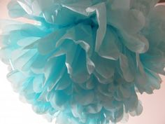 e1239ba3335 Baby boy shower poof - good for above the chair where she will open  presents for