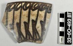 "Iran, Tepe Hesar, 2179-1900 BC.painted rim sherd. a pattern is painted on the exterior ca 2179-1900 BC Pennsylvania university museum. ""Virtual Museum of Iran Art / موزه مجازی هنر ایران"" Page on Facebook."