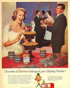 vintage party advertising | Who doesn't want the Taste of Planters at your holiday party! MMMM I ...