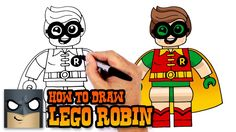How to Draw Lego Robin- Drawing Tutorial Video