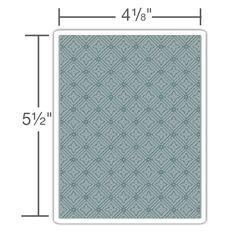 660243  Sizzix Texture Fades Embossing Folder - Diamonds