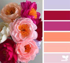 Likes, 45 Comments - Design Seeds® Colour Pallette, Colour Schemes, Color Combos, Flora Design, Color Balance, Design Seeds, Color Stories, Colorful Flowers, Color Inspiration