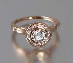 Moissanite THE SECRET DELIGHT 14k rose gold by WingedLion on Etsy, $1675.00