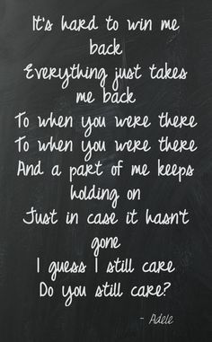 When We Were Young - Adele - this song is B E A U T I F U L