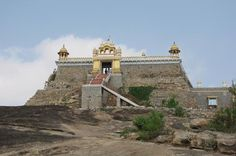 "Sri Kshetra Kanakagiri, Kanakagiri as Sakopamana Shaila, Where, ""Sakopamana"" means heaven and ""Shaila"" means a rock or hillock. Sri Kanakagiri Kshetra is located in Chamarajanagar for more details download Pureprayer App"