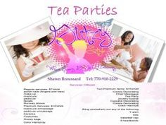 Tea Parties, Glitzy Style, Lithonia