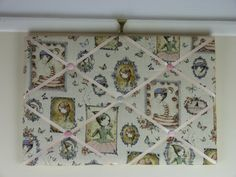 Fabric notice board pin board fabric memo by ButterflyCreations4