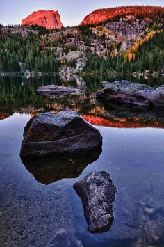 Bear Lake, Rocky Mountain National Park, Colorado. Would love to hike here. Not backpacking, just day hikes.