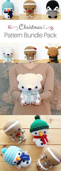 6 Adorable Christmas Amigurumi Patterns ~ Christmas crochet pattern bundle pack ~ instant download PDF crochet patters #amigurumitoy #christmascrafts #affiliate #crochetpatterns