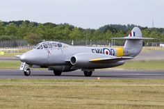 https://flic.kr/p/otf7i8 | Gloster Meteor WA591 | The Gloster Meteor was the first British jet fighter and the Allies' first operational jet aircraft during the Second World War. The Meteor's development was heavily reliant on its ground-breaking turbojet engines, pioneered by Sir Frank Whittle and his company, Power Jets Ltd. Development of the aircraft itself began in 1940, although work on the engines had been underway since 1936. The Meteor first flew in 1943 and commenced operations on…