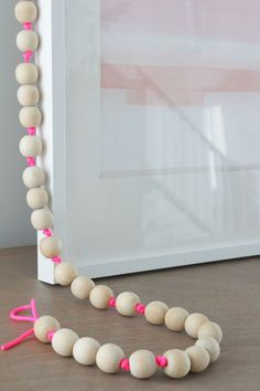 Wood Bead Garland DIY | ... in the Fun Lane | Bloglovin'. Get your wood beads at fizzypops.com