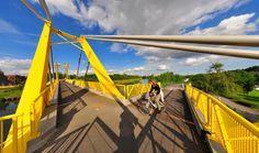 Footbridge in Les Ecluses, Deûlémont, France by koos.fernhout