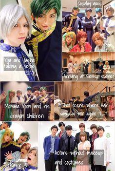 Akatsuki no Yona / Yona of the dawn anime and manga [Live Action Stage Play] actors, cosplays, costumes, and acting. Yona, Hak, Yoon, Soo won, Shin ah, Jaeha, Kija, and Zeno. Behind the scenes. They all looks so cute >\\\<
