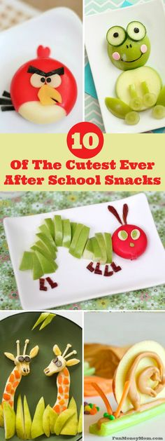Not only are these snacks super cute, with lots of healthy ingredients, they make a healthy snack too!