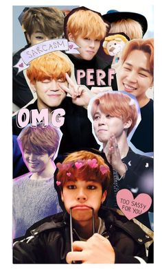 """jimin collage for a friend !!"" by bvngtangboys ❤ liked on Polyvore"