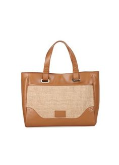 Tan Shopper Bag - Tan Shopper Bag - Thia  Tan Tote Bag Rs. 2,800.00  Availability: In stock      Description     Additional Information     Comments  100 % Real Leather Very unique and stylish bag crafted in jute and leather One main compartment with magnetic enclosure Light gold hardware adding to the class of the bag 2 short handles with ring, perfect to be carried on shoulder or to be held in hand