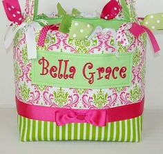 Hot Pink and Lime Lacework Diaper Bag
