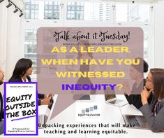 Leaders are faced with many mandates, policies and rules that may create barriers to equity for all students. As a leader, when have you witnessed inequity in education? #EquityOutsidetheBox #EquityElevator #EETalkAboutIt #Equity #Education Questions To Ponder, This Or That Questions, Home Equity, Elevator, Leadership, The Outsiders, Students, Inspirational Quotes, Teaching