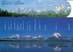 Postcard from the USA ~ Grand Teton National Park ~ Photographers Diana Stratton & Terry Donnelly www.postcrossing.com