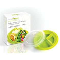 It can be a challenge to manage portion control wherever you are. Now, taking the guesswork out of portion control has never been easier! Our best-selling, sectioned to-go plate with easy-sealing lid is offered in a 4-pack.
