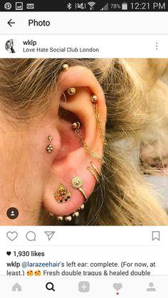Multiple Ear Piercings, London Clubs, Fast Fashion, Girly, Tattoos, Pretty, Earrings, Envy, Tatuajes