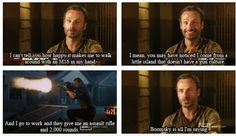 Andrew Lincoln, Rick Grimes, The Walking Dead ... Boomsky is all I'm saying.