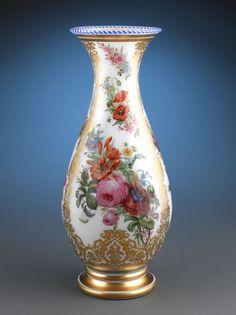 Antique Glass, Baccarat Glass, Opaline Glass Vase ~ M.S. Rau Antiques