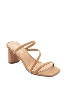 Casual Heels Outfit, Heels Outfits, Tan Strappy Sandals, Strappy Sandals Heels, Strap Sandals, Stiletto Heels, High Heels, Block Sandals, Fashion Heels