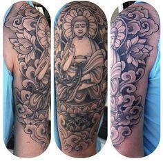 46 Best Buddha Tattoo Sleeve Images Buddha Tattoos Arm Tattoo