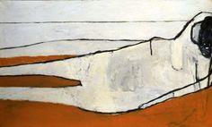 William Scott - White Reclining Nude, 1956, Oil on canvas, 91.8 x 152.7cm (36 x 68 in) Hirshhorn Museum (Smithsonian)