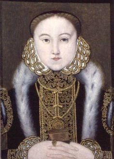 1560_Queen Elizabeth I of England.  Artist: Unknown. Face looks wrong for Elizabeth.