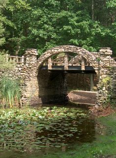Bridge at Gillette Castle State Park, East Haddam, CT.  From the Mr. Gillette's castle you have magnificent views of the Connecticut River Valley.