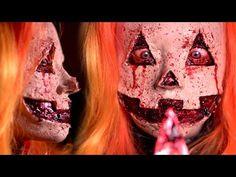 JACK-O-LANTERN Halloween Makeup Tutorial - YouTube