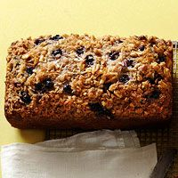 Blueberry-Coconut Banana Bread Recipe  Banana bread gets a makeover thanks to a bunch of blueberries and a smattering of coconut in this crispy-topped treat.