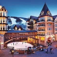 this looks like fun ice skating (vail, colorado)