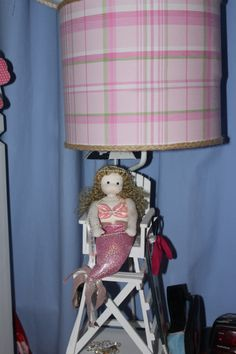 #potterybarnkids A little lamp with a mermaid!! The perfect touch to any kids room!! xoxo
