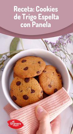 #Cookies de espelta con panela y pepitas de chocolate. #food #recipes #health
