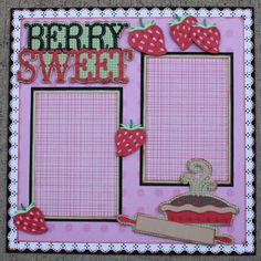 """Berry Sweet"" 12x12 Single Layout |Faith Abigail Designs"