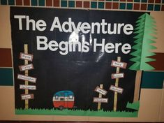 Camping Theme Classroom Bulletin Board Back To School 51 Ideas Camping Bulletin Boards, Welcome Bulletin Boards, Kindergarten Bulletin Boards, Summer Bulletin Boards, Reading Bulletin Boards, Back To School Bulletin Boards, Classroom Bulletin Boards, Classroom Themes, In Kindergarten