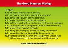 Good Manners and Right Conduct Manners For Kids, Good Manners, Certificate Of Recognition Template, Gang Up, Say Please, To My Parents, Good Habits, When Someone, How To Introduce Yourself