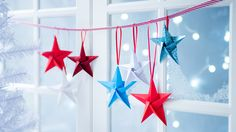 Suspended origami star decorations | How to fold a Christmas origami star | Tesco Living