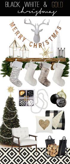 Black, White & Gold Christmas trends & Inspiration!!