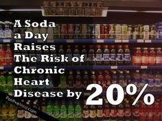Soda and The Risk of Heart Disease - Heart Health Chronic Heart Disease, Heart Month, Normal Heart, Dental Health, Public Health, Heart Health, Health Facts, Stress Management, Health Problems