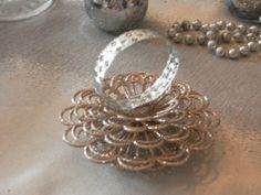How to make beaded napkin rings complete simple photo tutorial a quick and easy christmas napkin ring craft project solutioingenieria Images