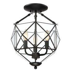 View the Delacora TST3064A Illumina Direct 3 Light Semi-Flush Indoor Ceiling Fixture at LightingDirect.com.