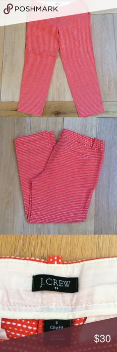 "J. Crew CityFit Patterned Crop Pants J. Crew CityFit 24"" inseam. J. Crew Pants Ankle & Cropped"