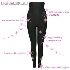 Some features of the bioactive crystals woven on our Crystal Smooth anti cellulite wear. Check our profile for more info. #madebyMACOM #CrystalSmooth #anticellulite #beauty #aesthetic #reducecellulite #blogger