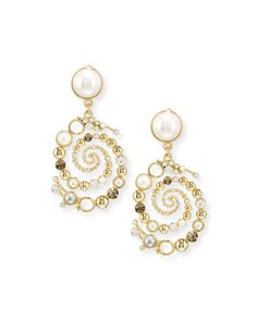 Infinite+Swirled+Cabochon+Drop+Earrings+by+Lulu+Frost+at+Neiman+Marcus.