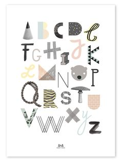 ABC Poster - The Gathered Store