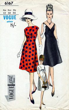 1960s Cocktail Dress With Bateau or V Neckline by BessieAndMaive, $38.00
